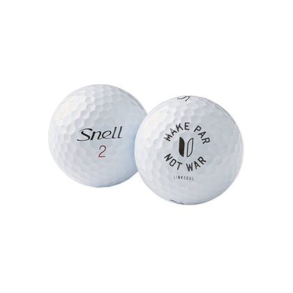 For golfers looking for a high-performance golf ball, the MTB-X is Snell's latest 3 piece design. Featuring Linksoul's iconic MPNW logo.   Superior Distance - new smaller core offers low driver spin & faster speeds.  Higher Iron Spin - a thicker, firmer mantle layer for increased mid and short iron approach shots.  Refined Aeordynamics - low lift, low drag for controlled ball flight to reduce