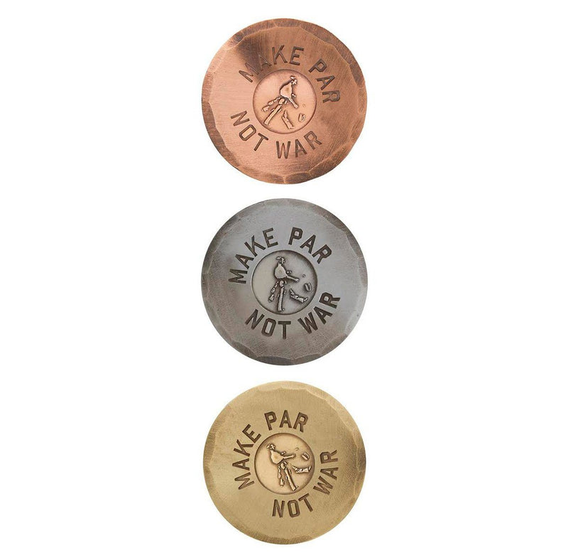 Make Par Not War Hand Forged Ball Marker image