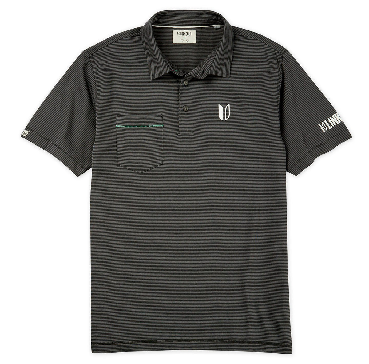 Tour Logo Martin Stripe Short Sleeve Polo