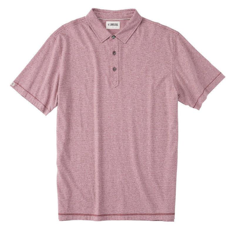 Knotwood Marled Yarn Dyed Striped Knit Polo image