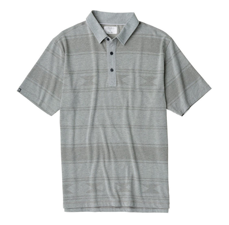Tonal Printed Heathered Knit Polo image