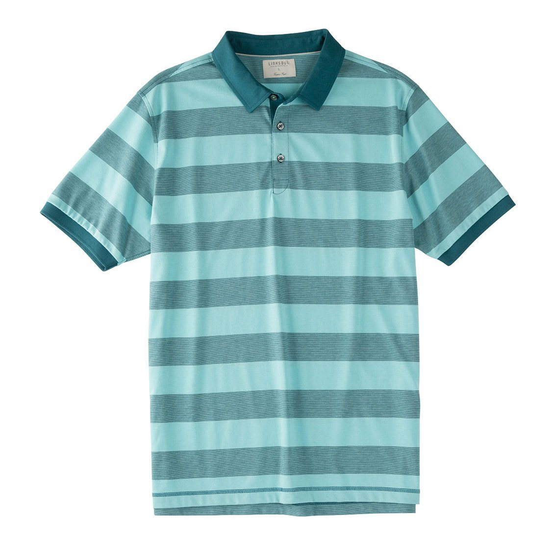 End-on-End Stripe Knit Polo