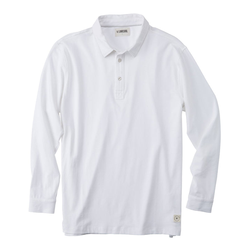 Heather Long Sleeve Polo Shirt image
