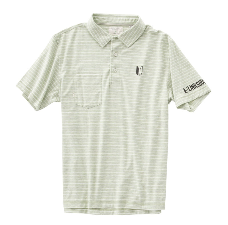 Tour Logo Heathered Yarn Dyed Stripe Short Sleeve Shirt image