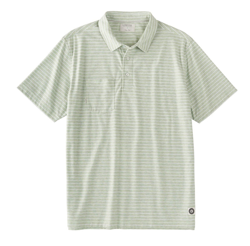 Heathered Yarn Dyed Stripe Short Sleeve Shirt image
