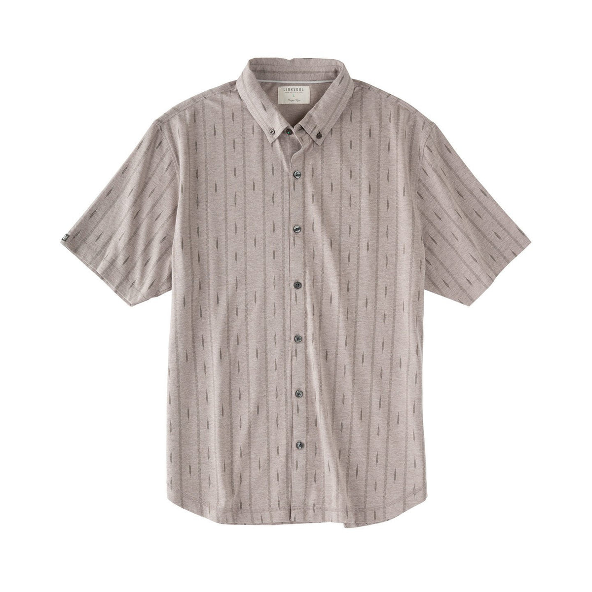 Full Button Printed Short Sleeve Shirt