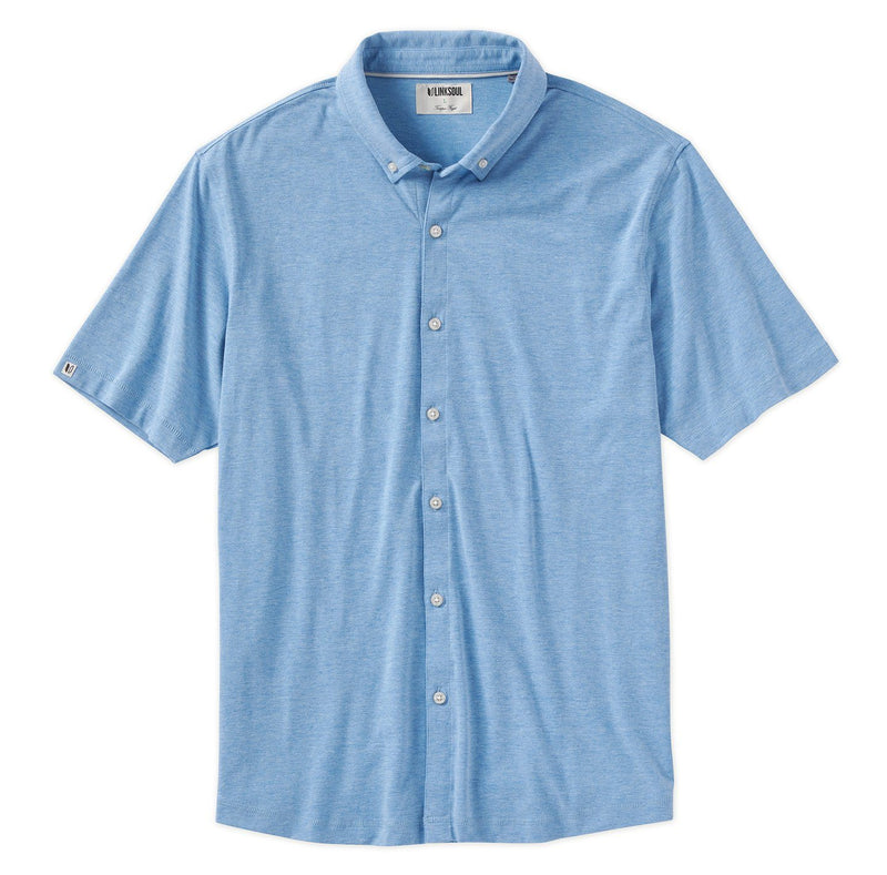 Anza Heathered Button-Down Shirt image