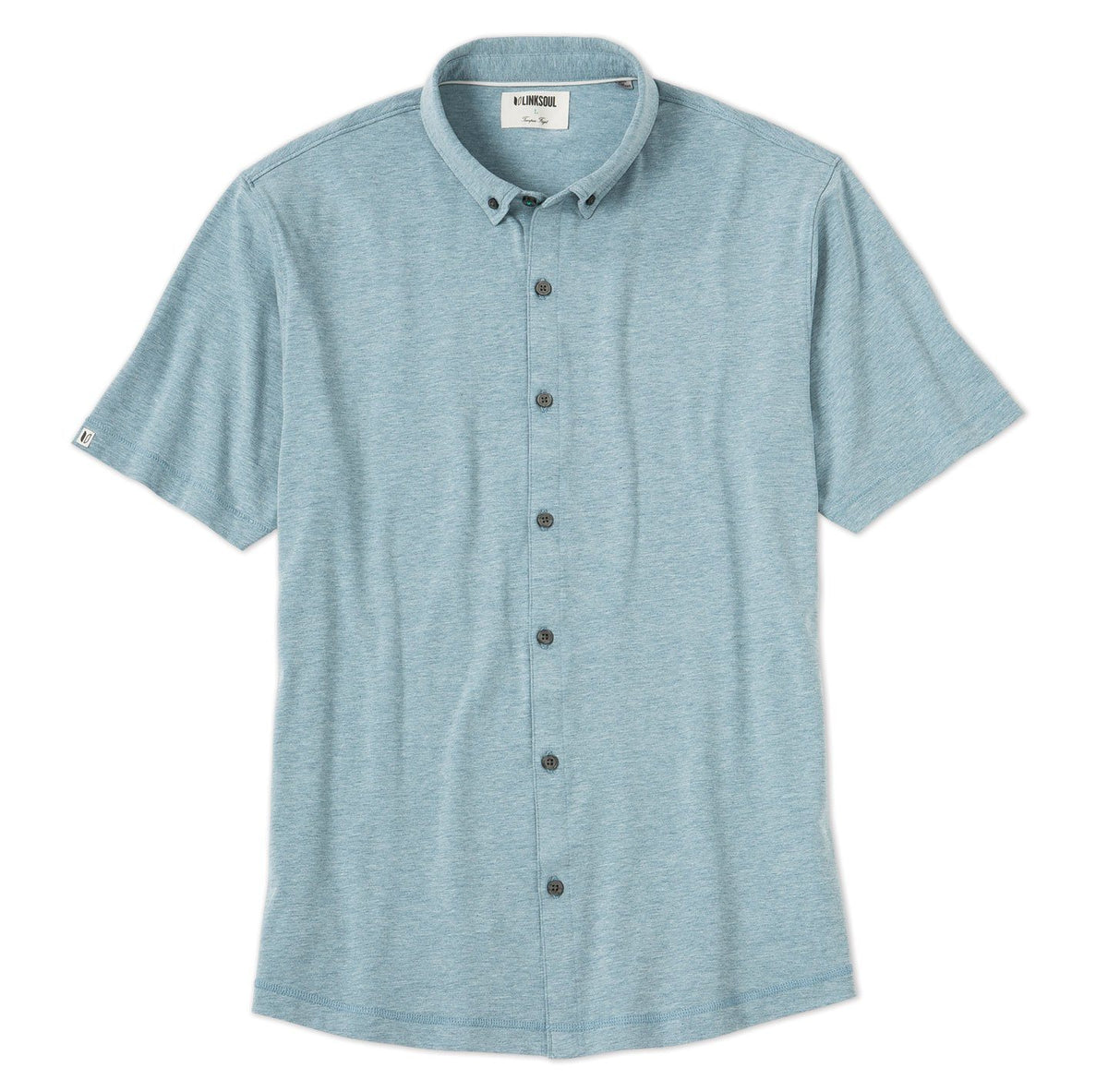 Anza Heathered Button-Down Shirt