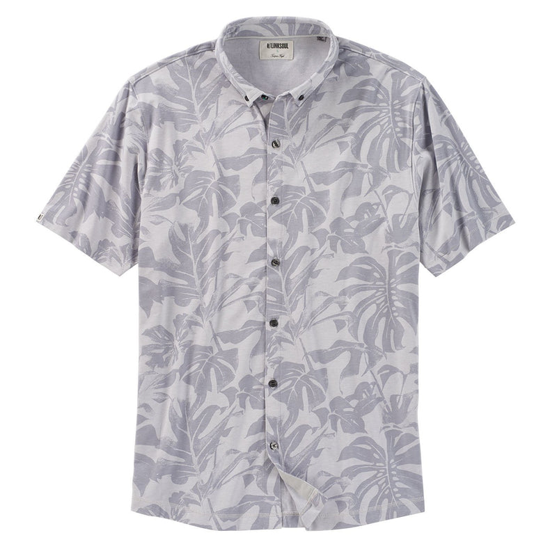 Anza Monstera Print Button-Down Shirt image