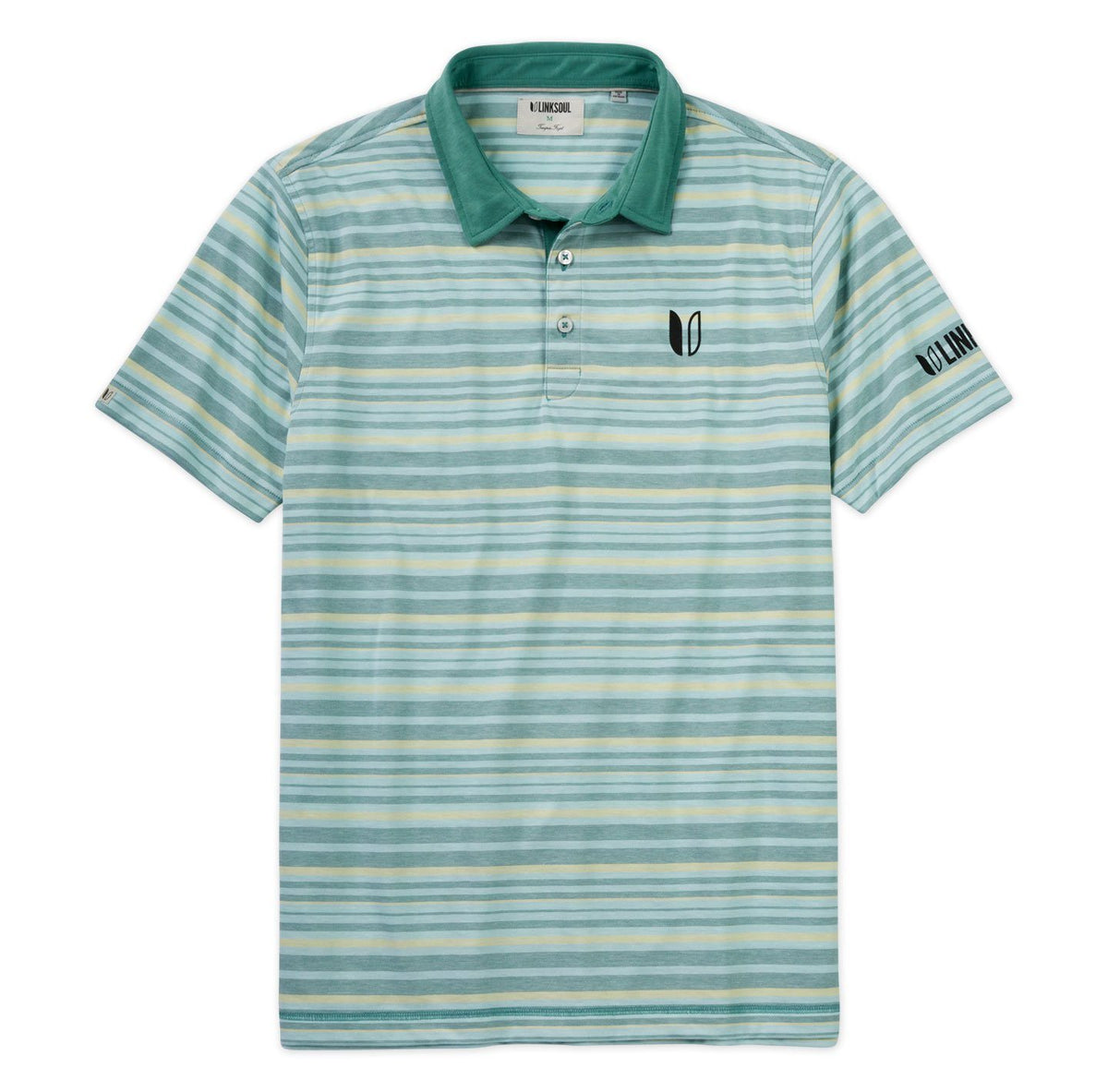 Tour Logo August Stripe Polo