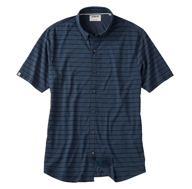 Anza Ink Striped Button-Down Knit Shirt image