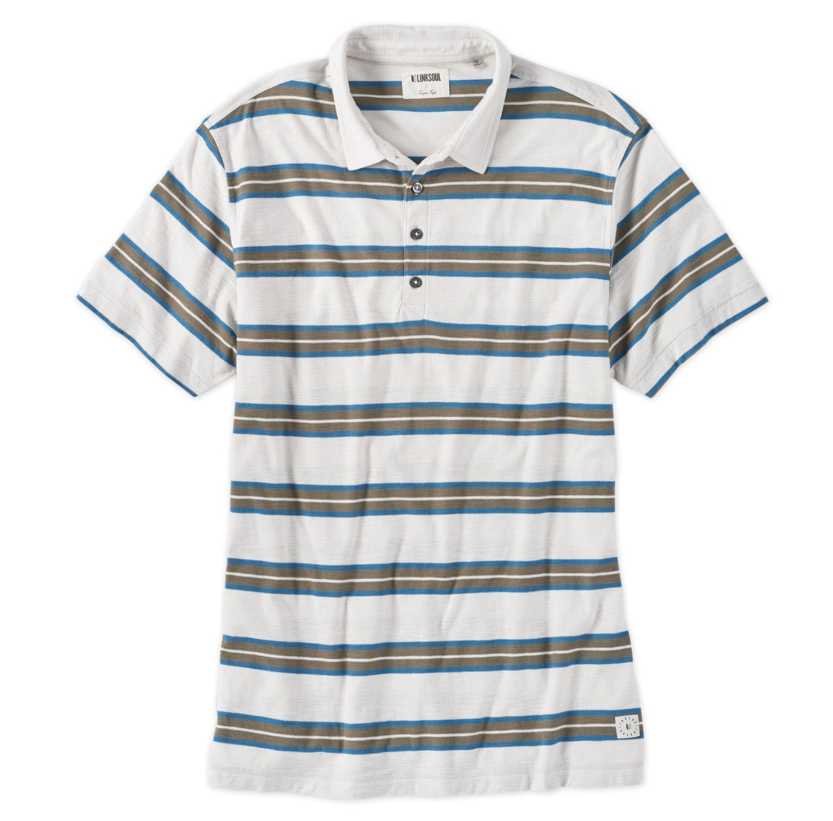 Charlestown Stripe Short Sleeve Polo