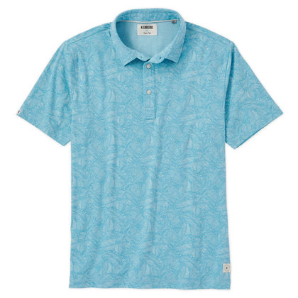 This cotton/poly blend fashion polo features a marine color palette to contrast the rising temps and help you keep your cool.