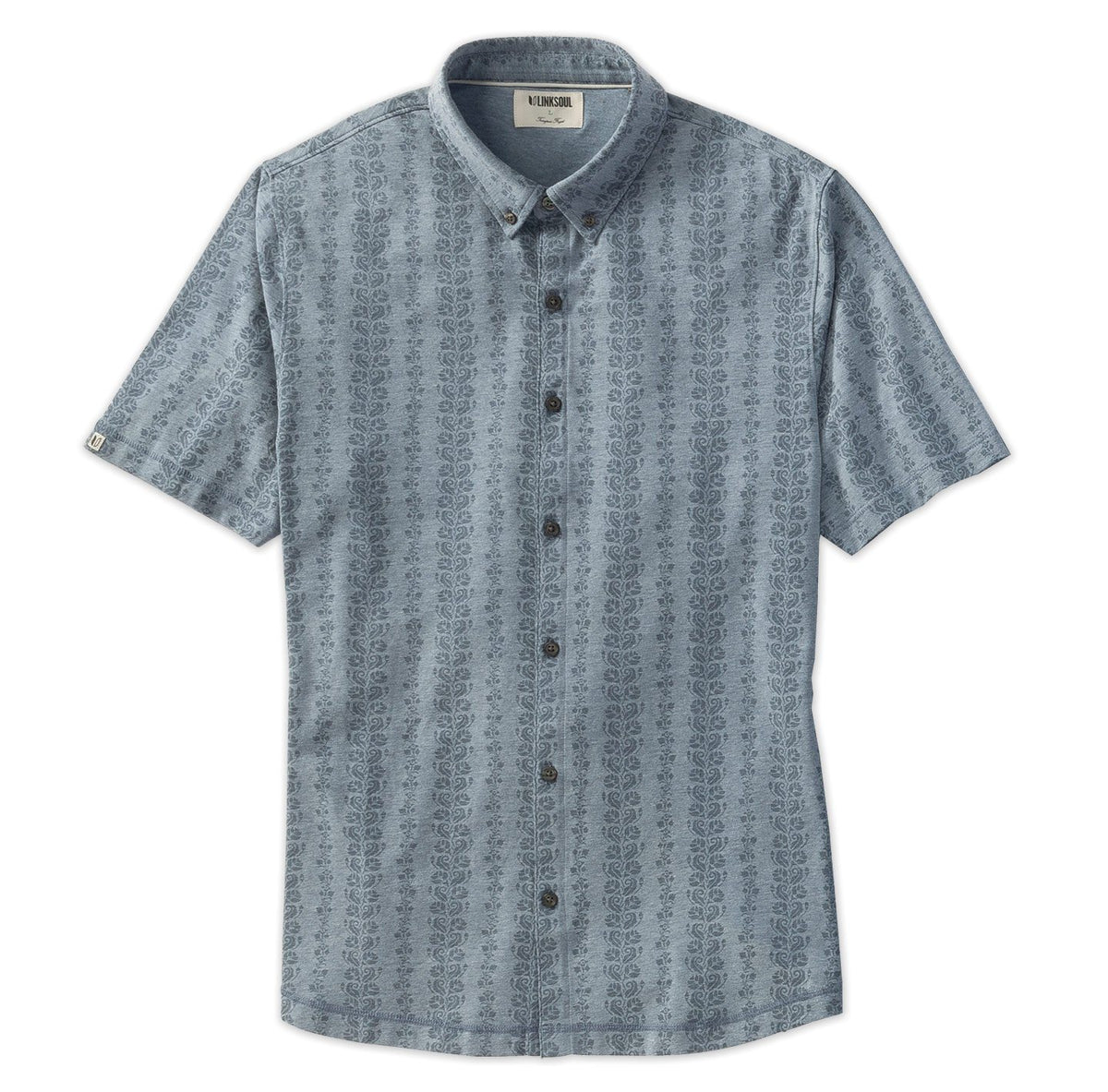 Anza Vine Print Button-Down Shirt