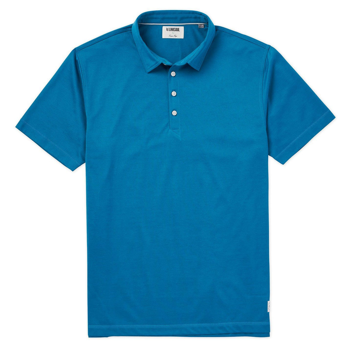 Solid Dry-Tech Knit Polo Shirt