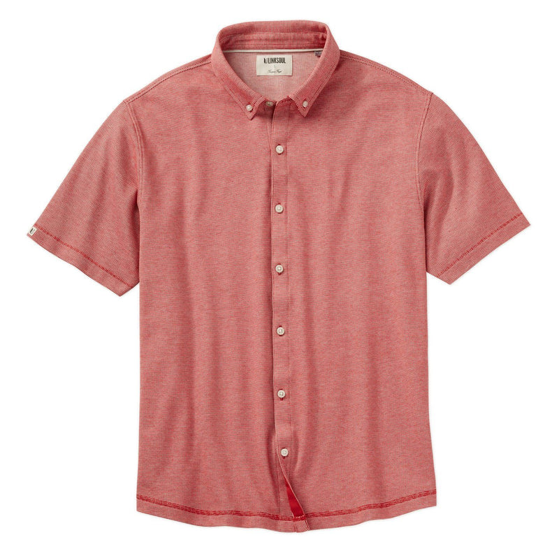 Double Knit Dry-Tech Short Sleeve Button-Down Shirt image