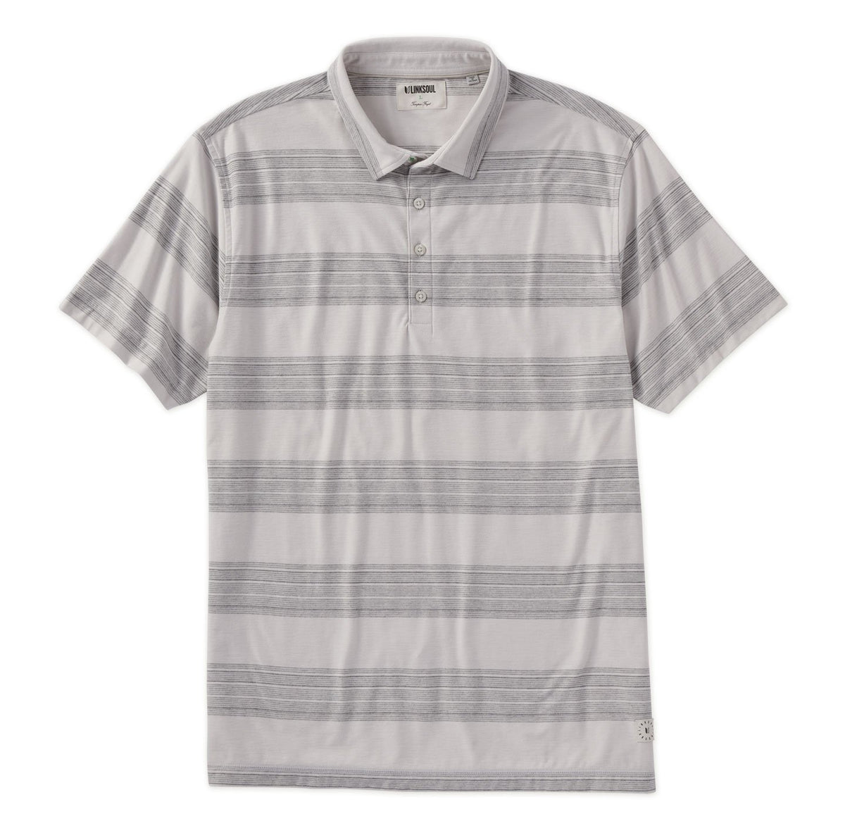 Wide Stripe Short Sleeve Polo Shirt