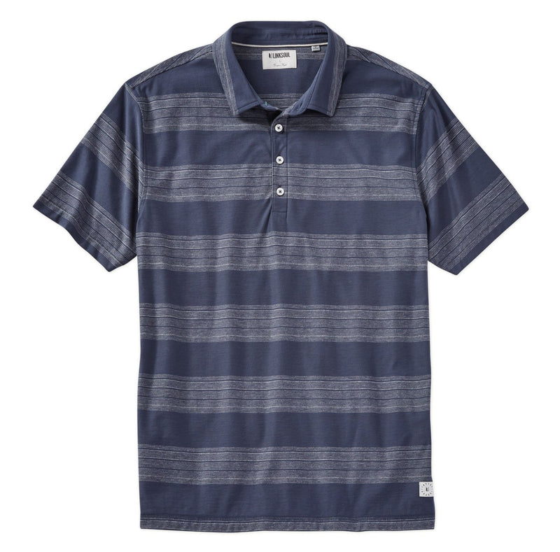 Wide Stripe Short Sleeve Polo Shirt image