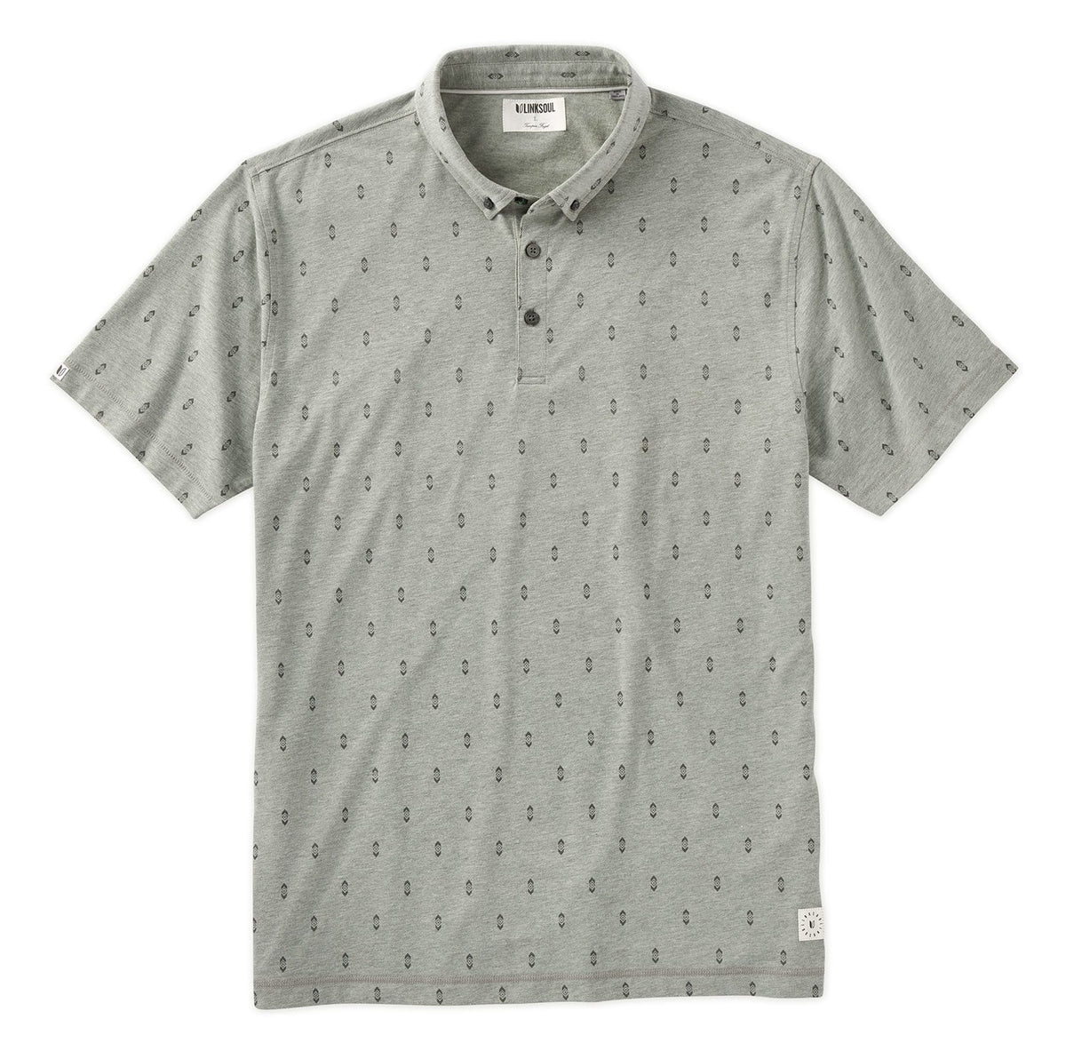 Diamond Print Short Sleeve Polo