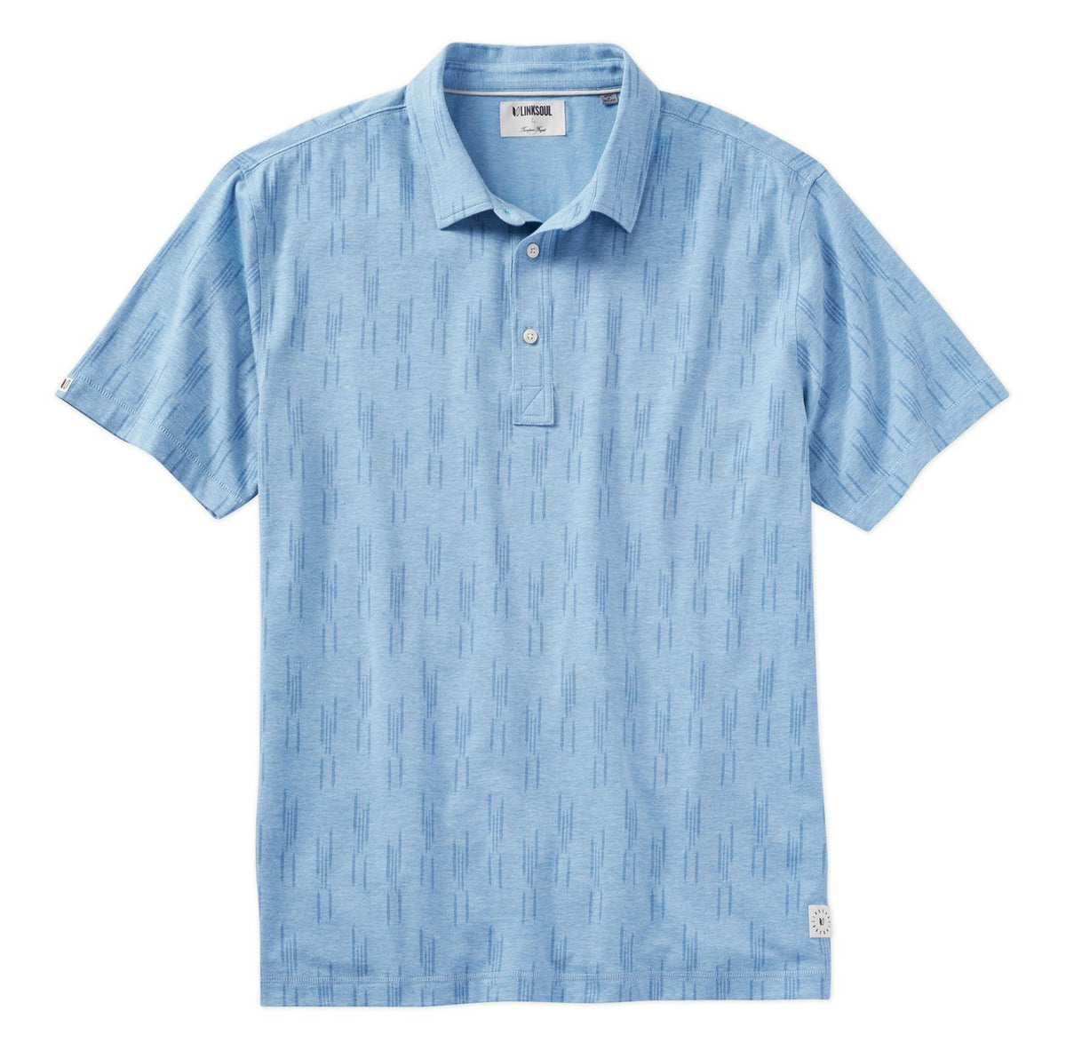 Scratch Print Short Sleeve Polo