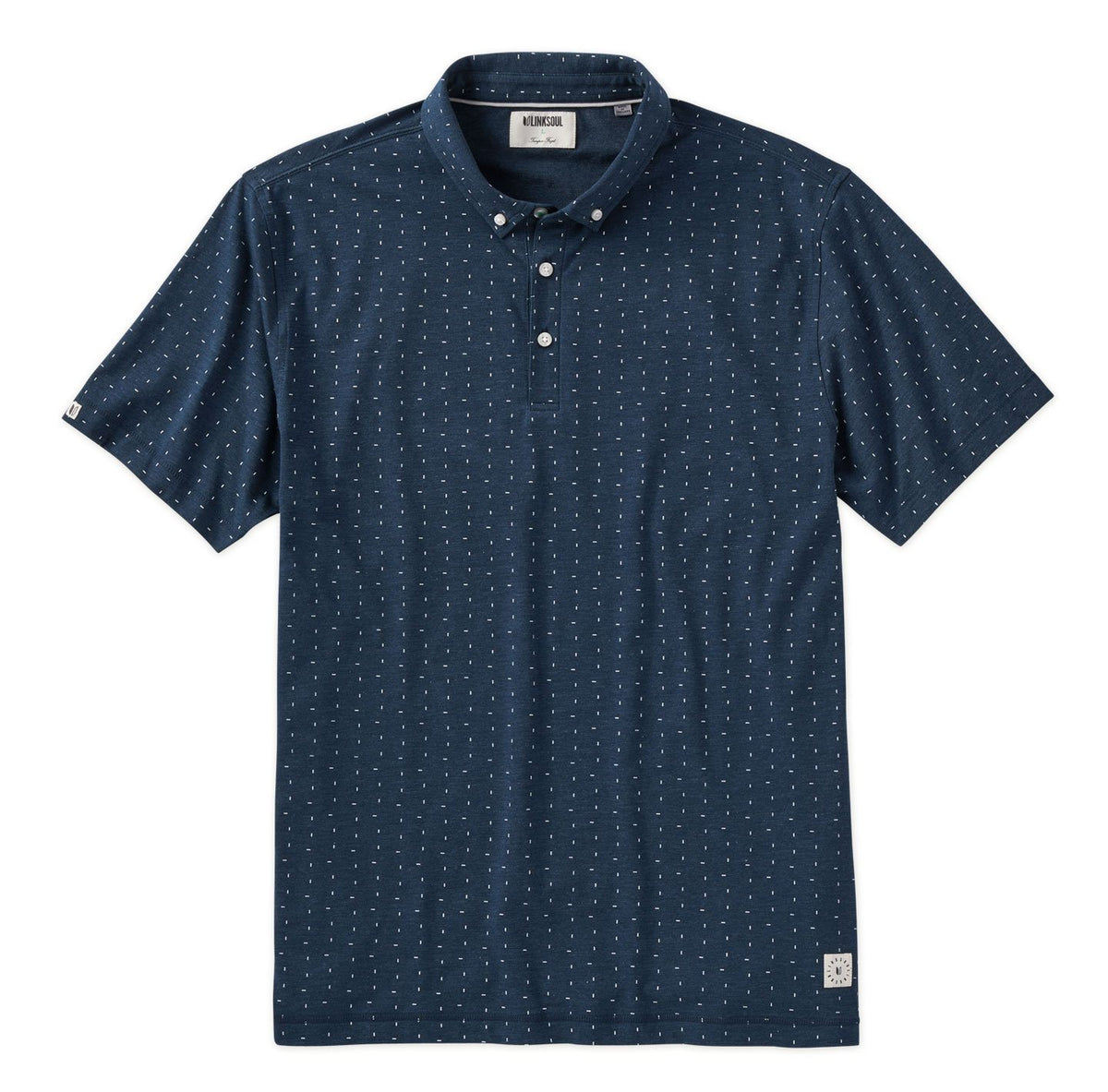 Dash Print Short Sleeve Polo Shirt