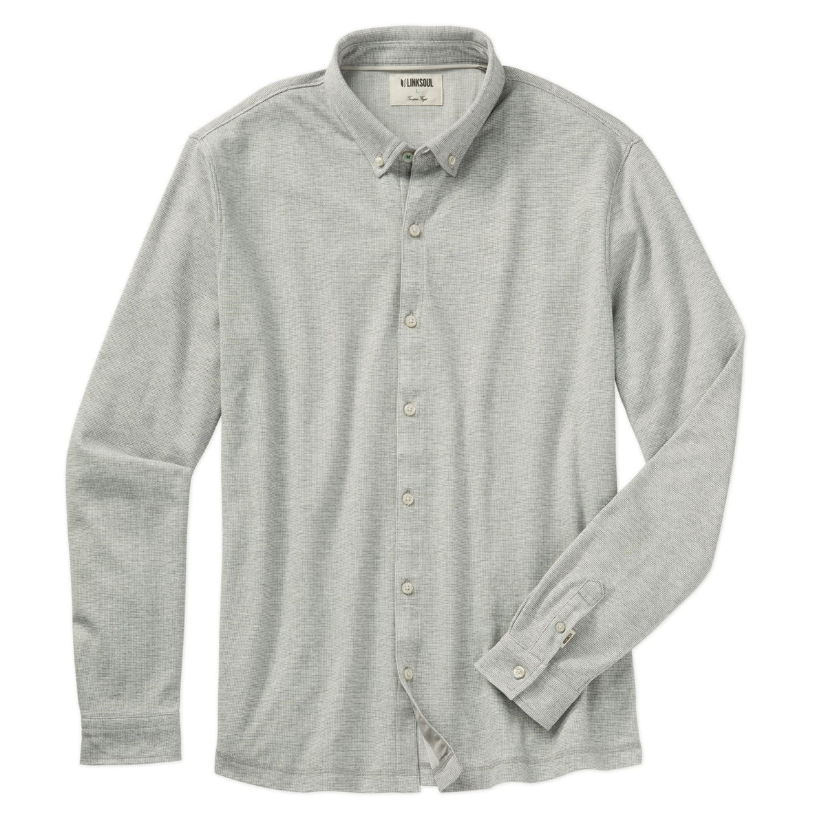 Double Knit Dry-Tech Long Sleeve Button-Down Shirt