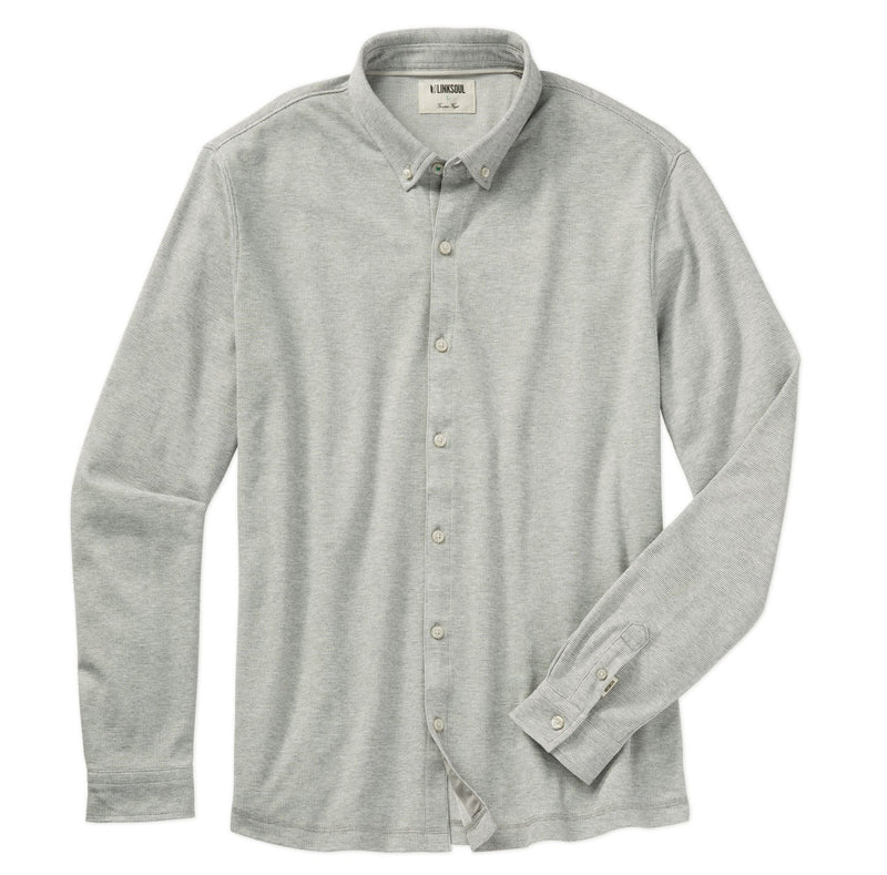 Double Knit Dry-Tech Long Sleeve Button-Down Shirt image
