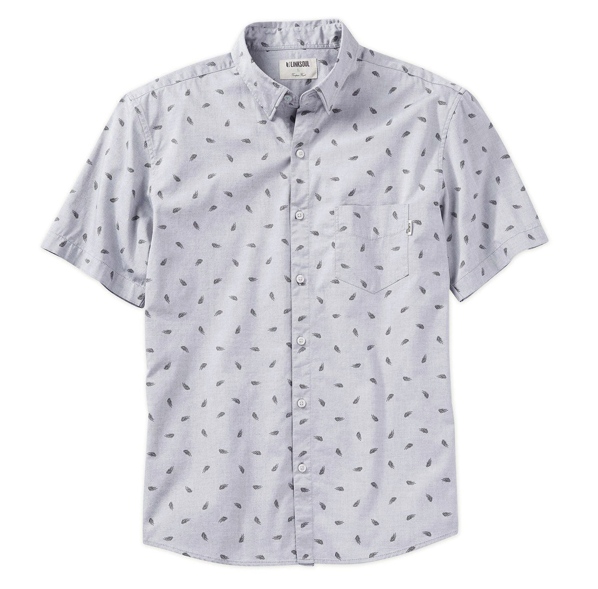 Frond Print Chambray Woven Shirt