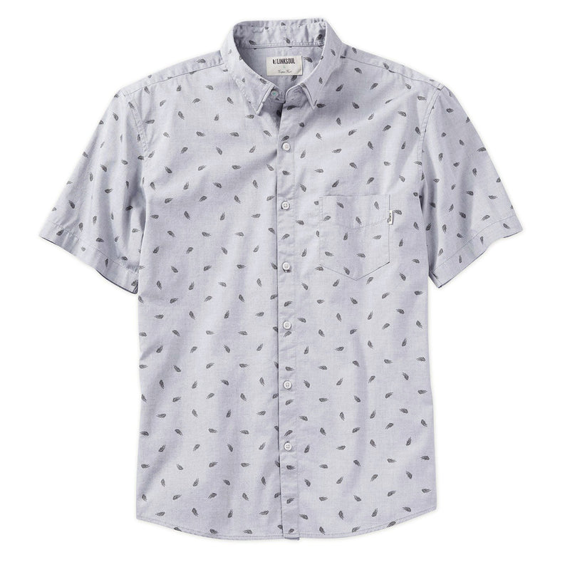 Frond Print Short Sleeve Woven Shirt image