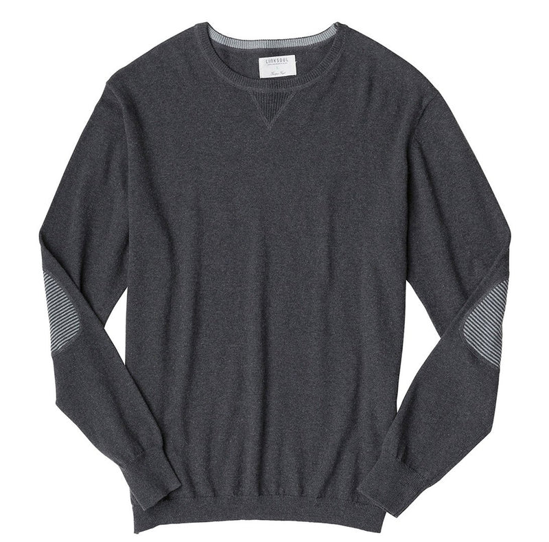 Cotton-Cashmere Elbow Patch Sweater image