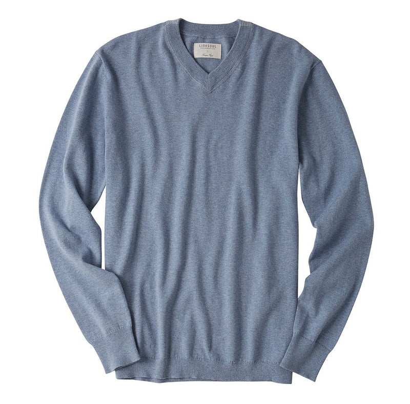 COTTON CASHMERE V-NECK GOLF SWEATER image