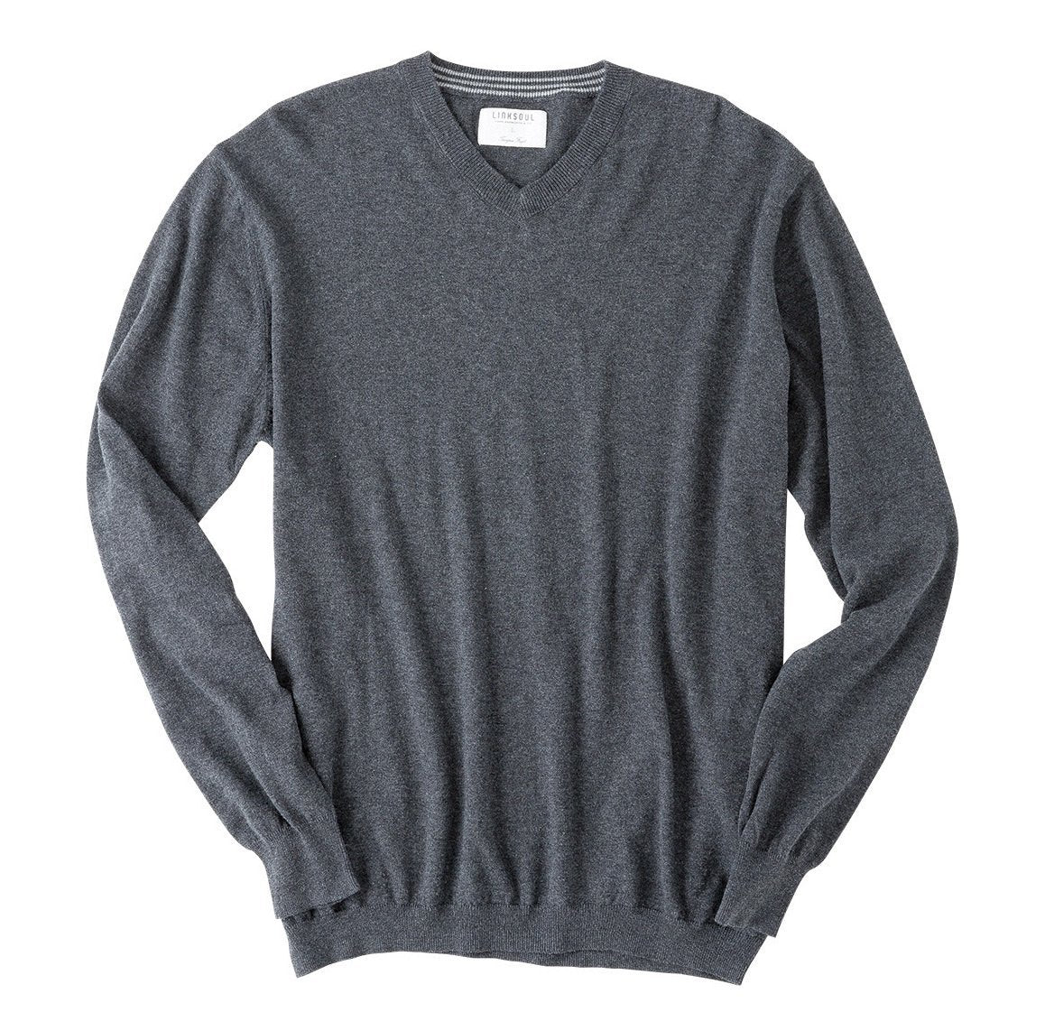 LIGHT WEIGHT COTTON-CASHMERE V-NECK SWEATER