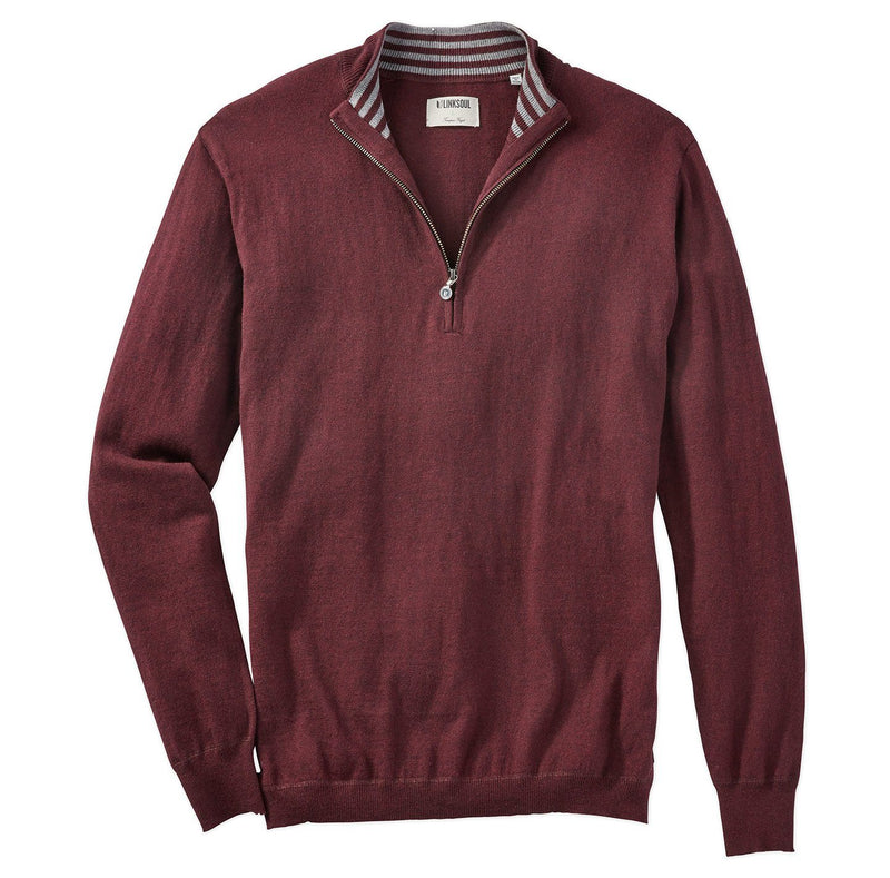 Cotton-Cashmere Quarter-Zip Sweater image