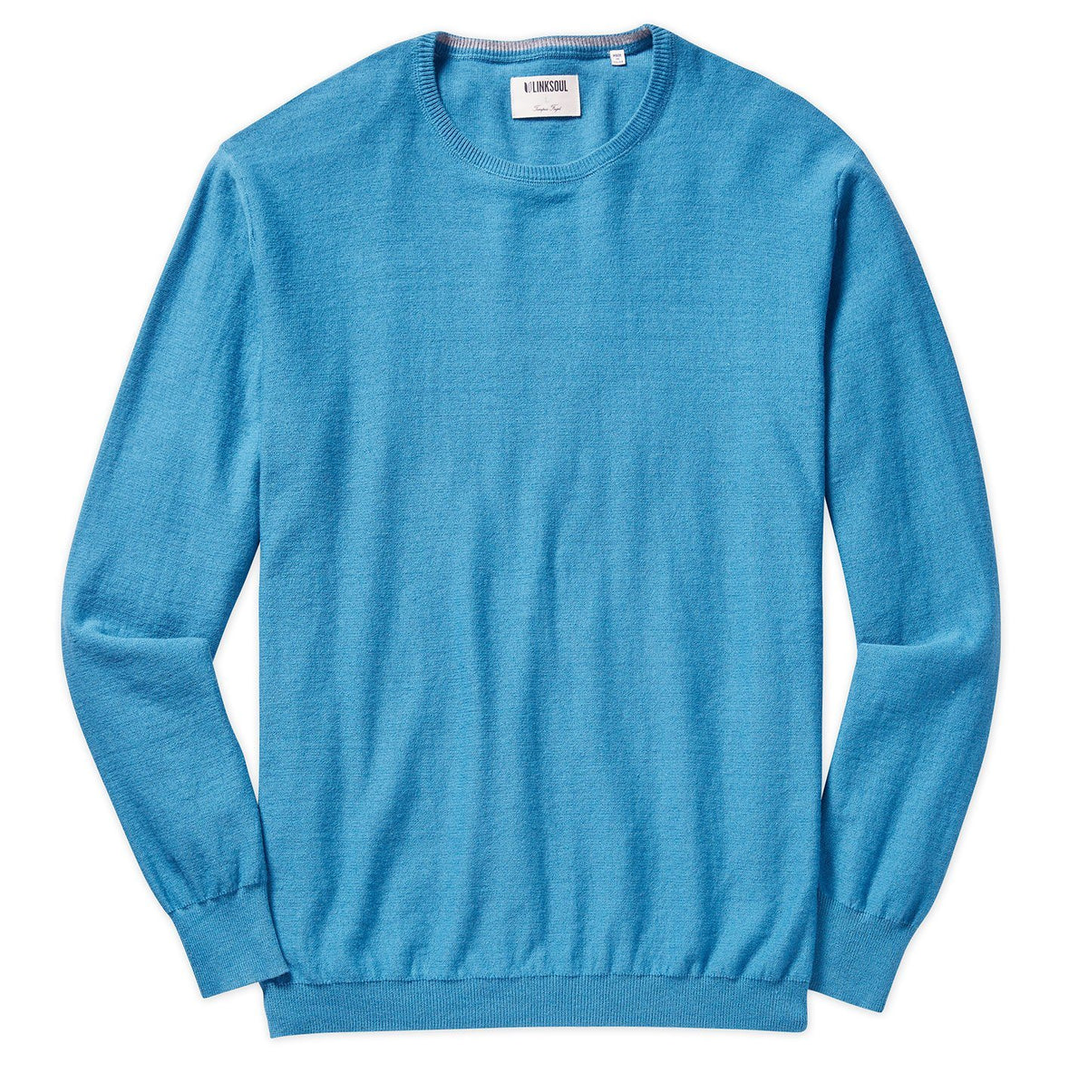 Cotton-Cashmere Crew Sweater