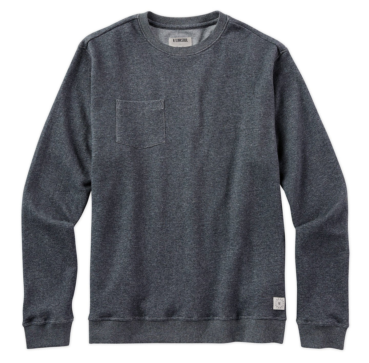 Double-Knit Pocket Crewneck Sweatshirt