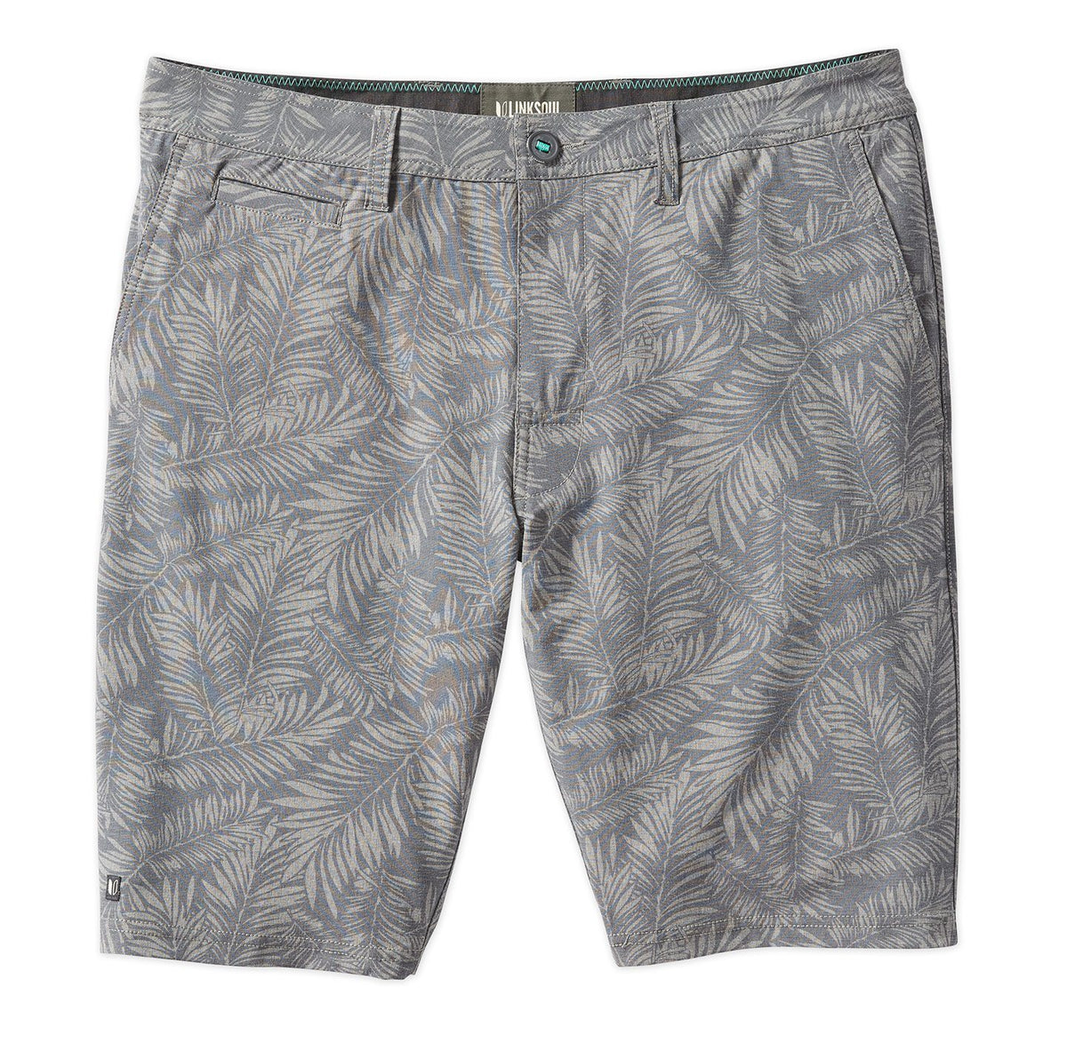 Palm Print Hybrid Boardwalker Short