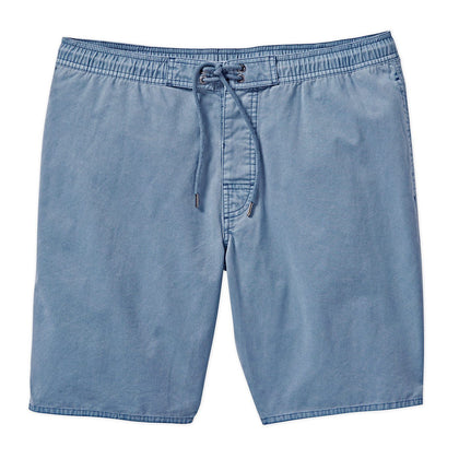 100% cotton garment dyed twill elastic waist short.