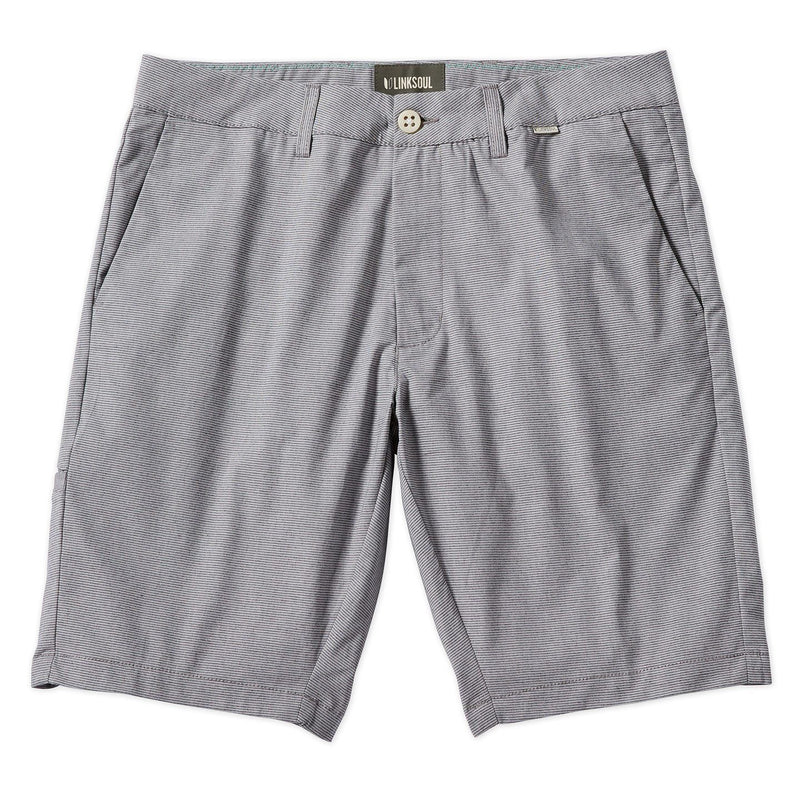 Chambray Micro Stripe Flat Front Chino Short image