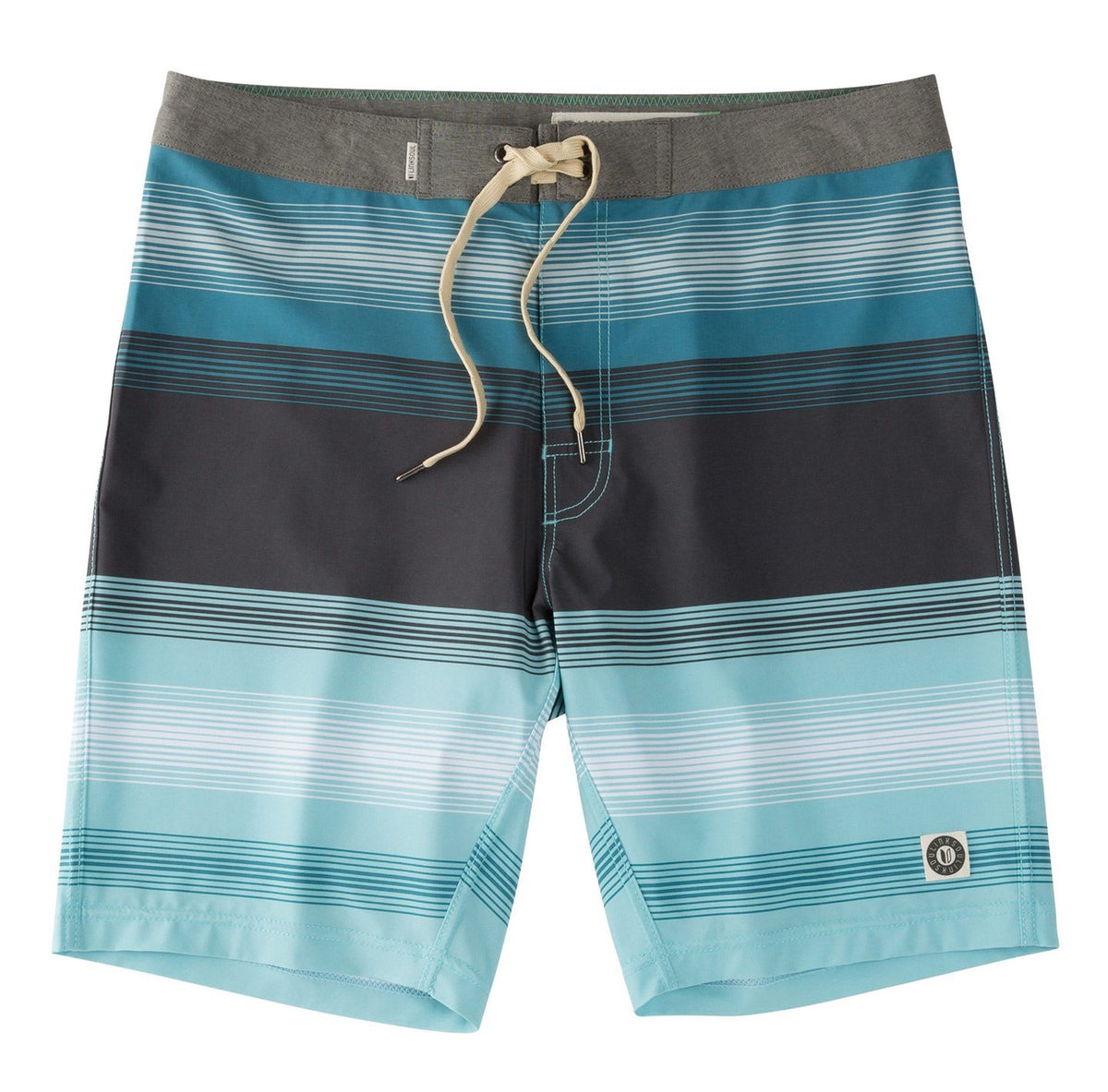 Multi Color Stripe Boardshort
