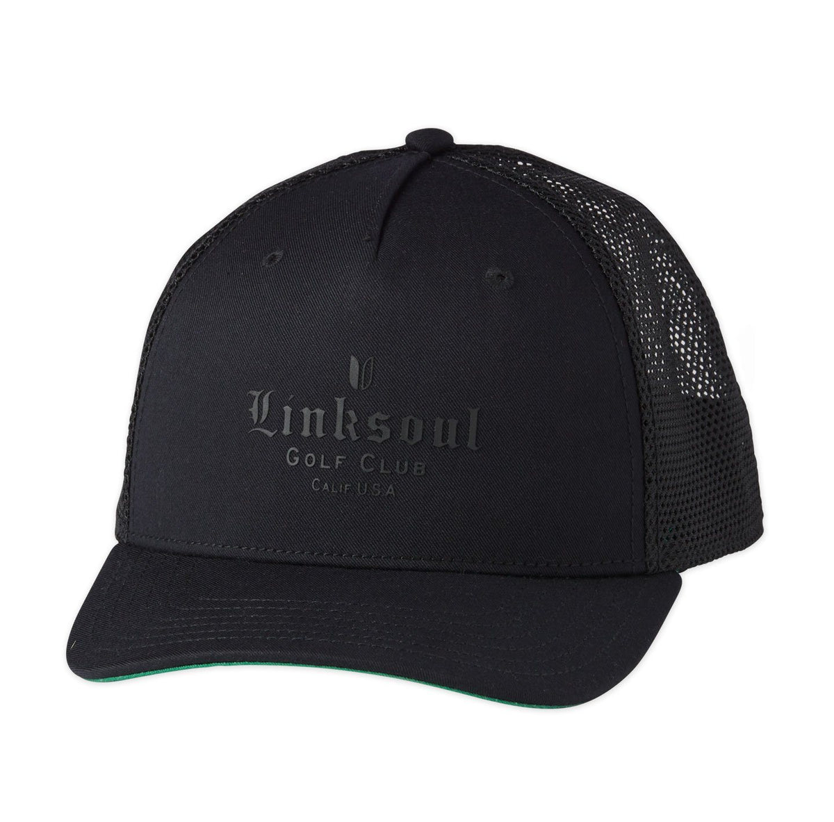 Embossed Mesh Trucker Hat