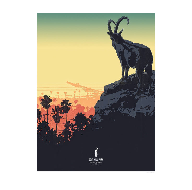 King Goat Art Print image
