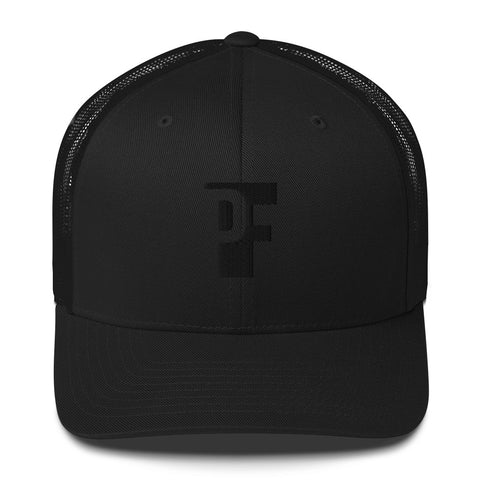 "The ""LOGO"" Trucker Cap (Black Thread Flat Print)"