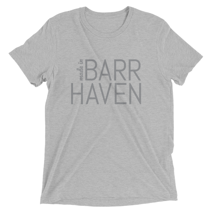 Made in Barrhaven -Men Grey Short Sleeve T-shirt