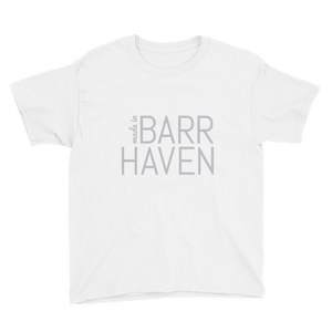 Made in Barrhaven - Youth White Short Sleeve T-Shirt