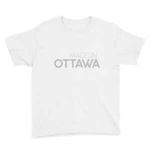 Made in Ottawa - Youth White Short Sleeve T-Shirt