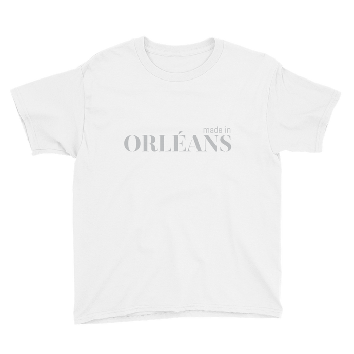 Made in Orléans - Youth White Short Sleeve T-Shirt