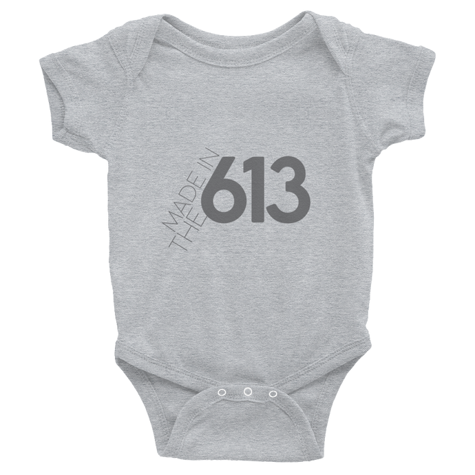Made in the 613 - Infant Grey Bodysuit