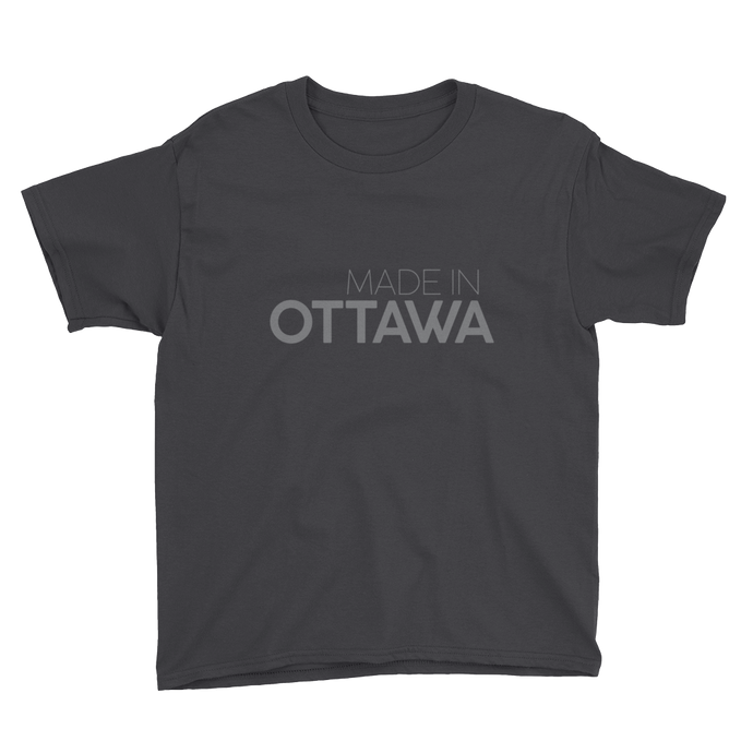 Made in Ottawa - Youth Black Short Sleeve T-Shirt