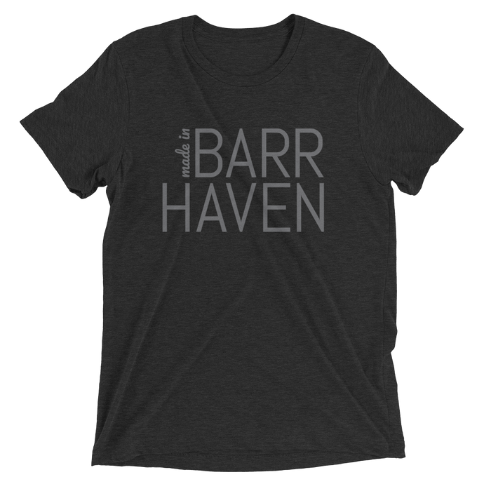 Made in Barrhaven - Men Black Short Sleeve T-shirt