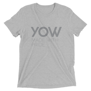 YOW - Men Grey Short Sleeve T-shirt
